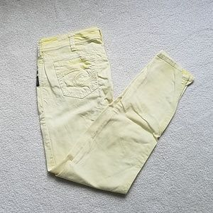Yellow Silver Brand Jeans.